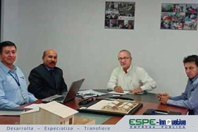 Representantes de ESPE Innovativa E.P., y la Empresa Pública Casa Para Todos mantuvieron una reunión de trabajo