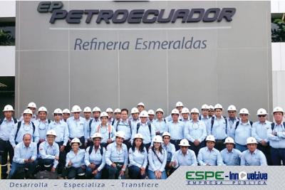 ESPE-Innovativa EP trabaja en el levantamiento técnico en Refinería Esmeraldas